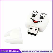 white tooth usb flash drive 4GB 8GB 16GB 32GB 64GB Cute pen drive pendrive U disk lovely creative personality usb 2.0 hot sale