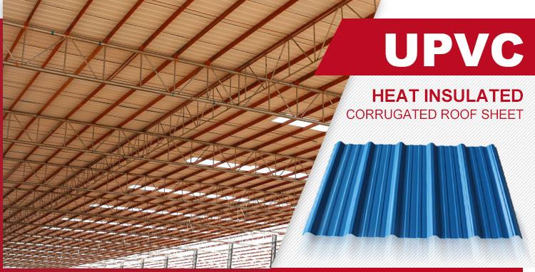 Fabrik preis hervorragende zähigkeit anti-corosion trapez pvc kunststoff dachbahn