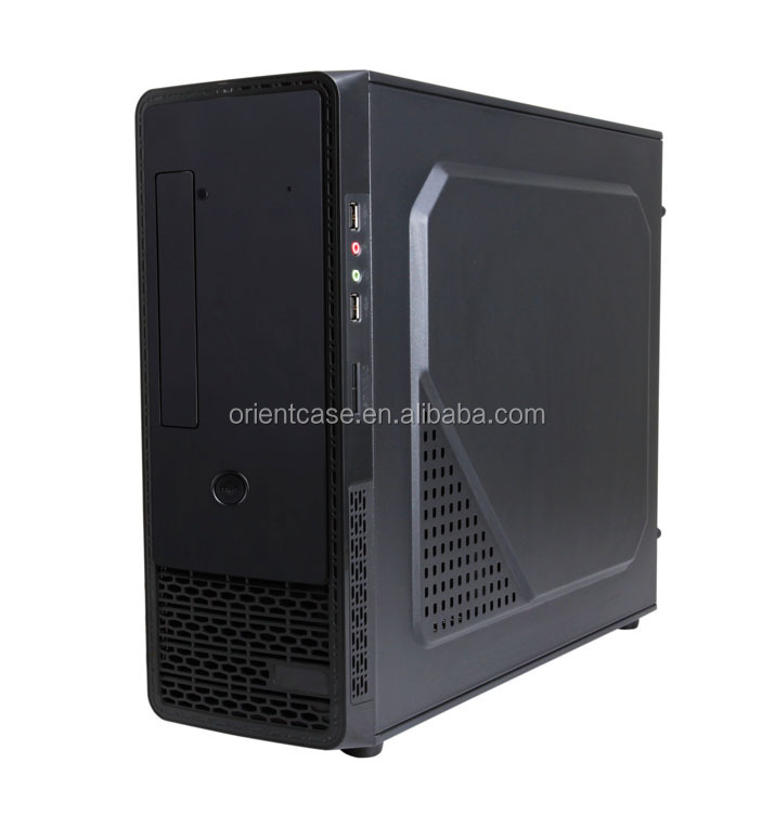 Slim ATX compute case W/ USB 3.0/12cm cooling fan/ Card reader