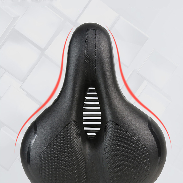 2019 New Design High Elastic Foam  Bike Seat Thick Cushion Cycling Saddle Reflect Bicycle Soft Saddle