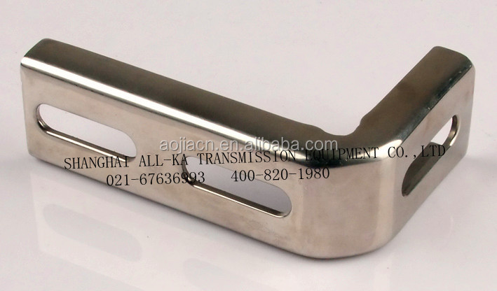 Conveyor components stainless steel side angle bracket