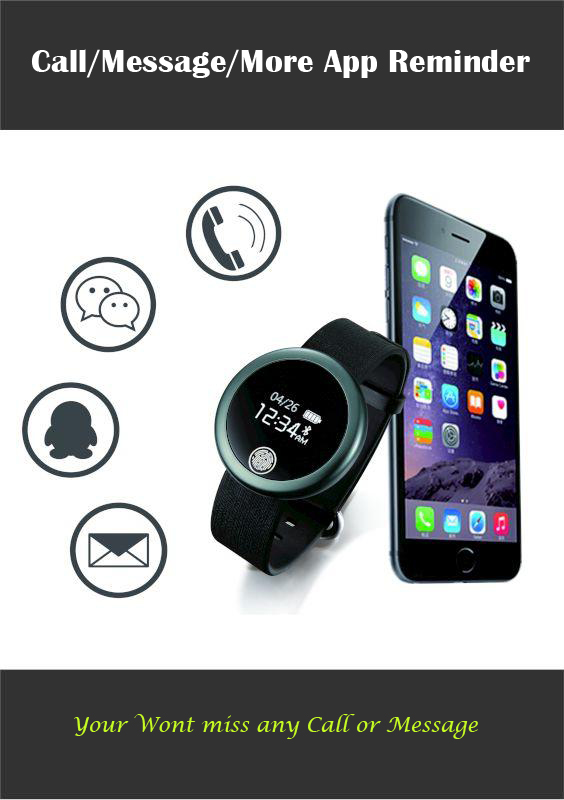 Touch Screen fitness tracker calorie counter wrist watch