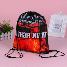 Customized cheap price 210D polyester drawstring sport bag for basketball