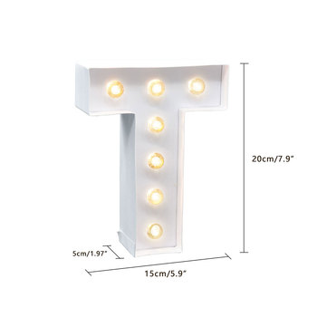 EXSUSS High quality white energy-saving Christmas garden letter light letter battery