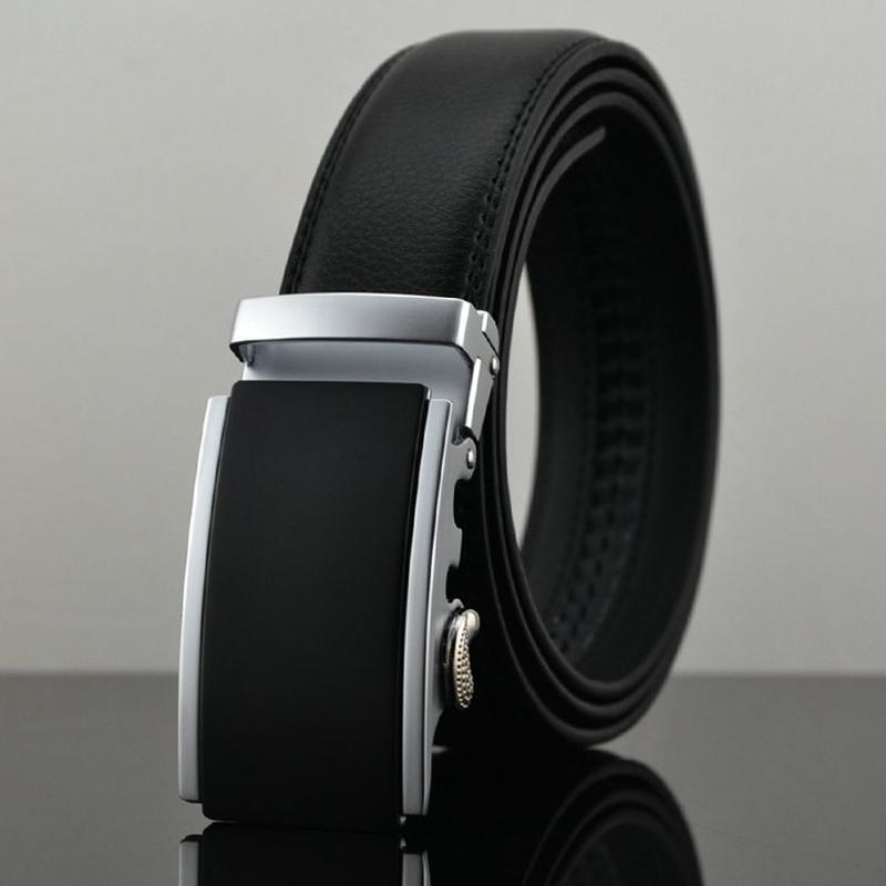 Belt 2016 New Designer Automatic Buckle Cowhide Leather men belt 110cm 130cm Luxury belts for men