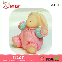 S4131 PRZYHot cute rabbit handmade soap candle silicone mold supplies