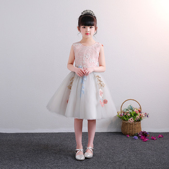 6860dd915e3 Cheap Girls Party Fancy Pink Gown Tulle Princess Dresses Flower Girls Kids  Baby Party Pageant Wedding