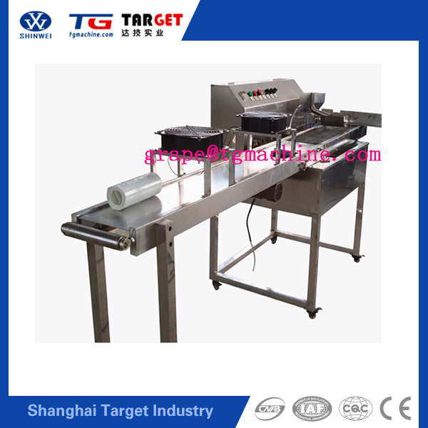 Multi-function chocolate syrup coverd machine Small chocolate enrobing