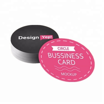 Custom CYMK 풀 한 printing Die 컷 shape 두꺼운 판지 Business Card Round business Card