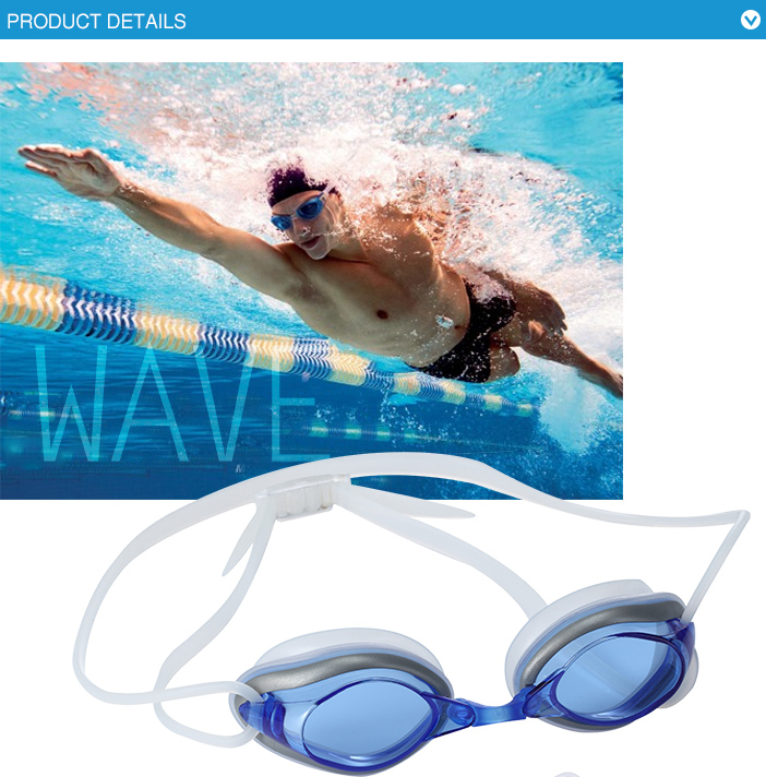 Adult comfortable silicone swimming goggles with quick release strap