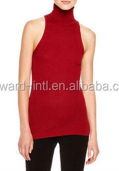 Fashion Sleeveless Turtleneck Cashmere Sweater Buy