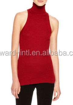 50736470ac540 Fashion Sleeveless Turtleneck Cashmere Sweater - Buy Unique Cashmere ...