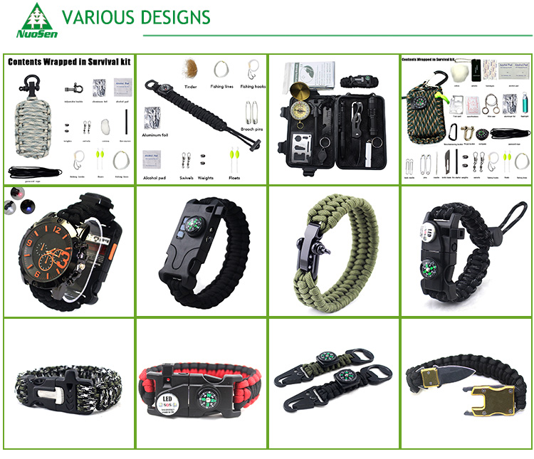 Factory Sell Price Survival SOS Emergency Gear Survival kits Camping Emergency Survival Kit