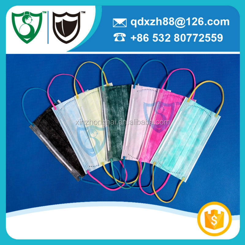china purple face mask with color oem