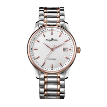 High quality 316L stainless steel silver/rose gold wrist watch men,import movement automatic watch