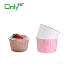 Wholesale disposable round colored paper Cake Cup for Baking cupcake