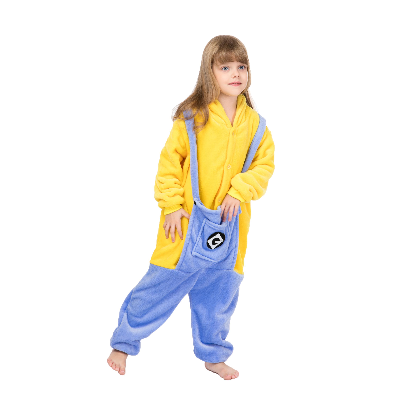 Wholesale Minion Kigurumi Onesie pajamas/Costume Flannel Onesie Pajamas фото