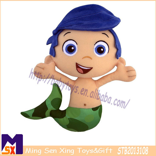 boy fish plush toy cute plush doll toys for kids soft stuffed mermaid toy