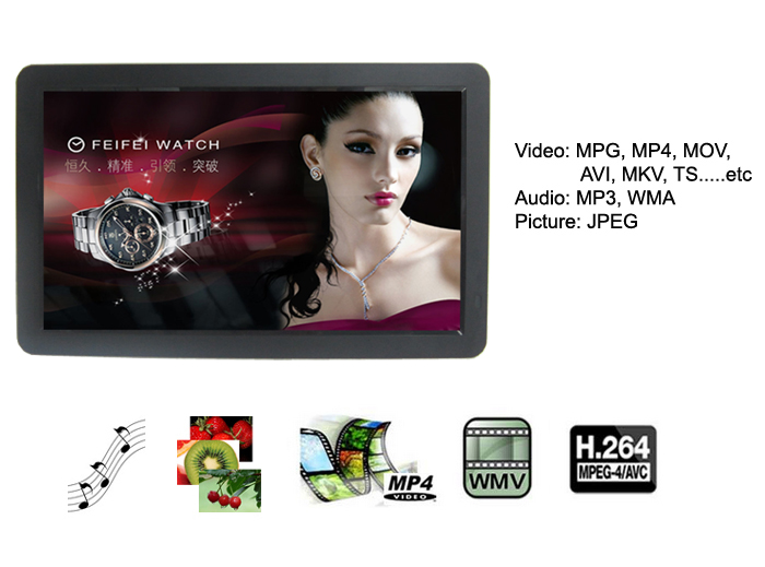 Hot Selling 21 21.5 22 Inch Motion Sensor Lcd Advertising Display Monitor Video Player