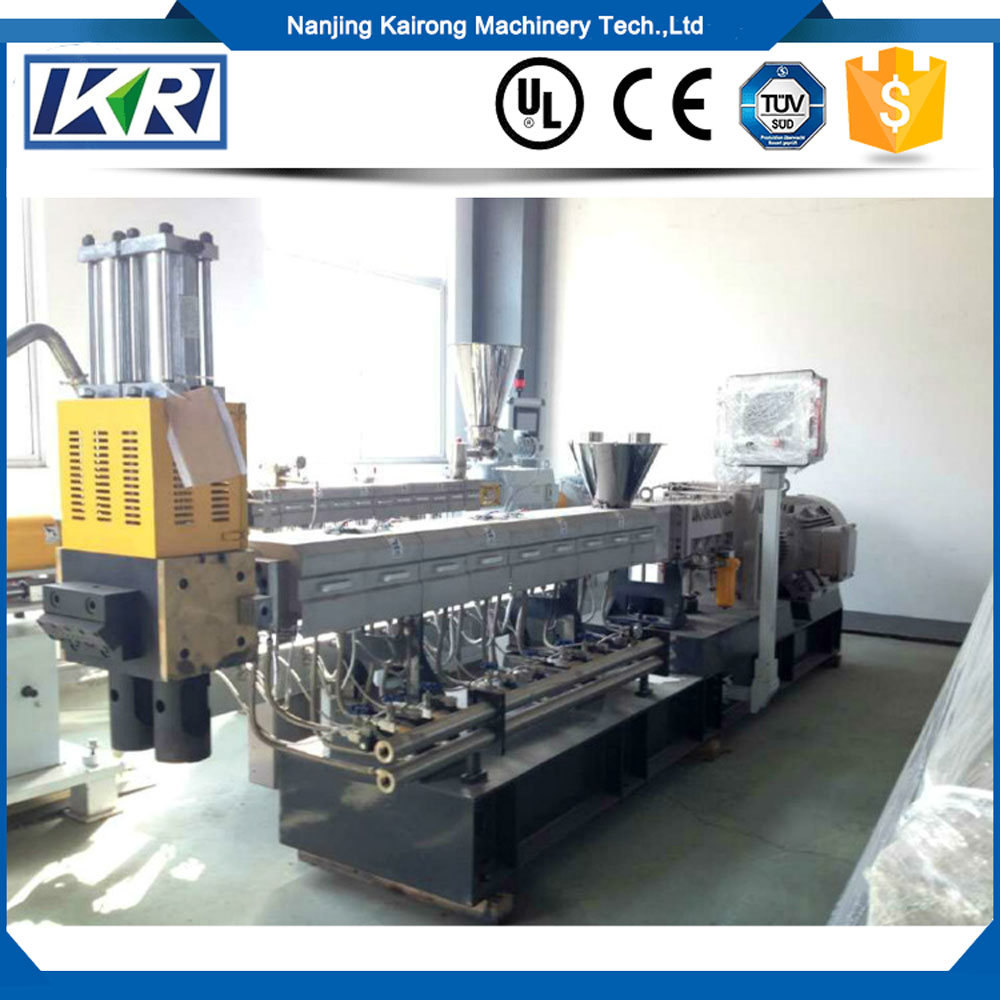 Spare Parts Of Twin Screw Extruder/ Pc Plastic Extrusion Machine For Granulating/ Granules And Masterbatch Extrusion
