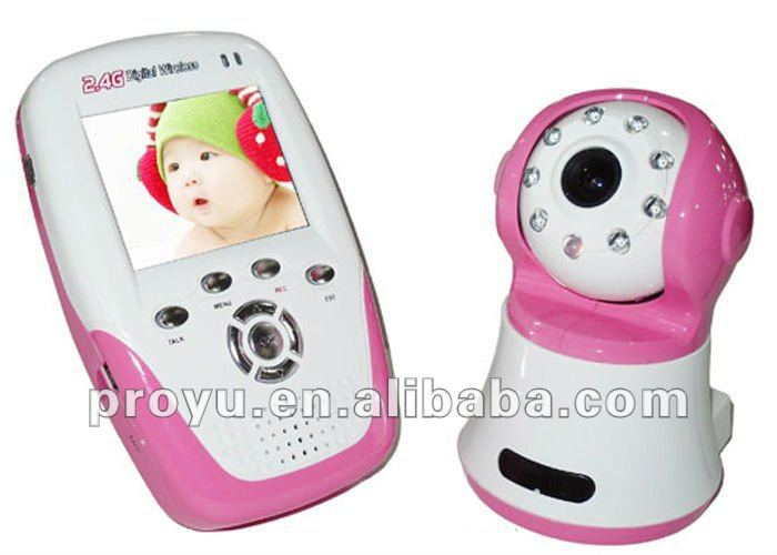 LCD wireless baby monitor with music player and small size PY-B387