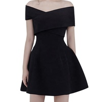 Guangzhou Wholesale Supplier Women Clothing 2019 Ladies Wears One Piece Sexy Party Women's Evening Black Dress