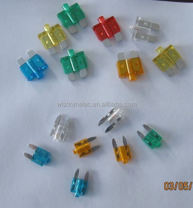 mini or medium blade type led car fuse