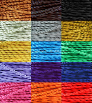 Decorative Lighting 2 Or 3 Core 0 75mm Fabric Cable Cotton Textile Braided Electrical Wire