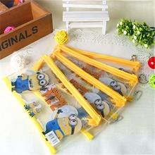 1Pcs Despicable Me Pencil Bags PVC Minions Pencil Cases For Kids School Supplies Boys Pen Box Cute Child Girls Gift H1230