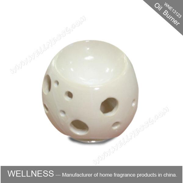Wholesale White Ceramic Oil Burner For Decoration