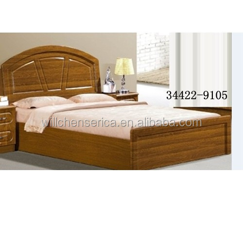 Amazing 2015 New Design 34422 9105 Wooden MDF Golden Double Bed