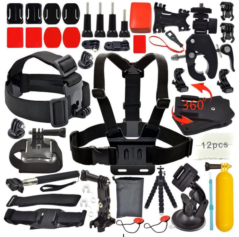 Vendite calde action camera kit accessori set toracica capo mount adattatore per Go pro hero3 Hero4 3 2 Black Edition set