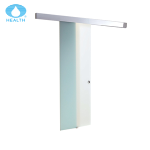 2018 Factory price frameless sliding frosted glass barn shower door