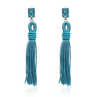 New Design Jewelry Hot Selling Elegant long rope tassel crystal Earrings for Women Fringing earrings