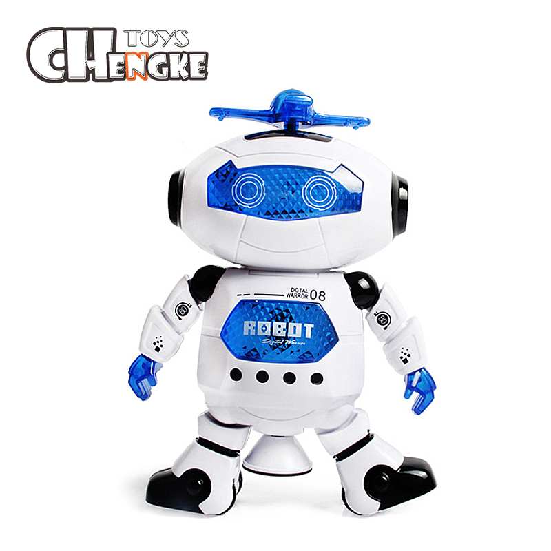 Dancing Robot Toys Rotates With Light Music