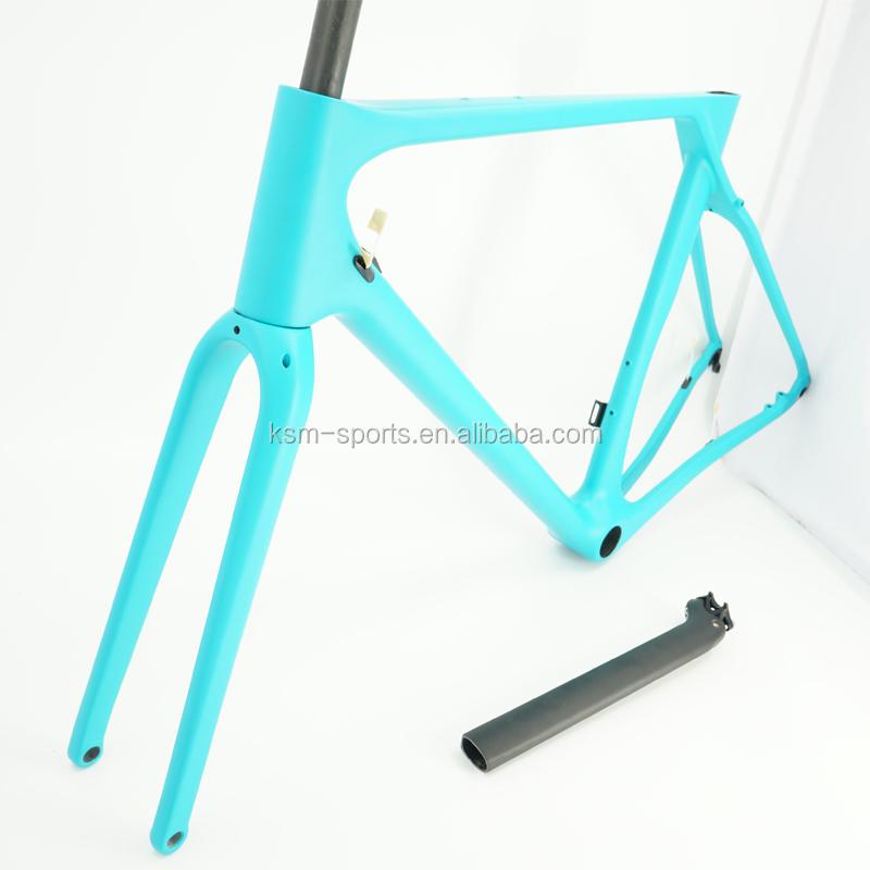 Eje pasante QR gratuito cambio carbono carretera bicicleta marco ...