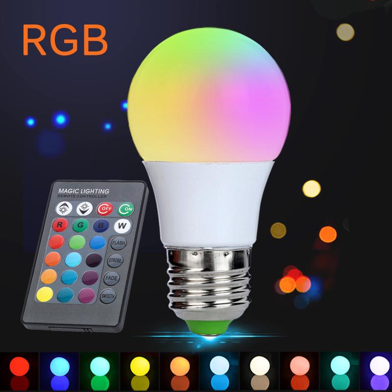 E27 3w Rgb Led Lamp Lampara Led Rgb Bulb 110v 220v 230v High Power Led  Light Lamp Energy Saving With 24key Ir Remote   Buy E27 3w Rgb Led Lamp,Led  Light ...