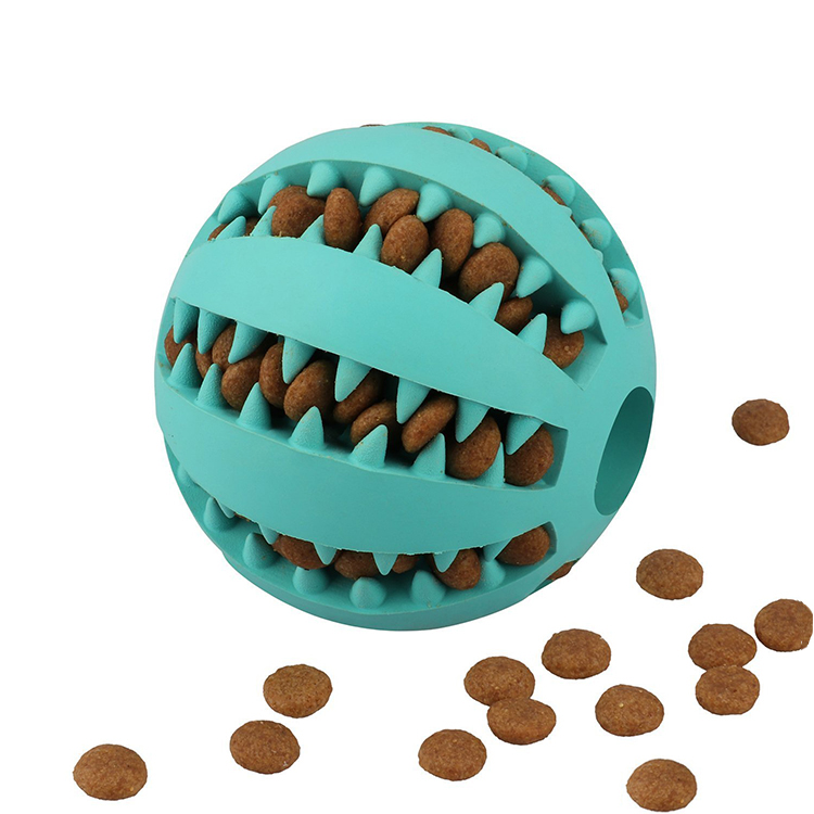 Rubber Dog Training Chew Bite Ball Playing Pet Non-tonxic Safe Eco-friendly Dog Toys Treat Ball