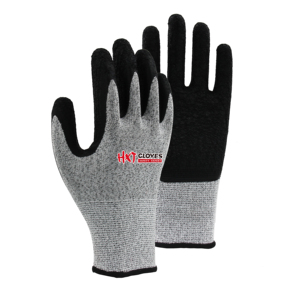 New Arrived Crinkle Latex Dipped Cut Resistance Sheet Metal Industries Safety Work Gloves