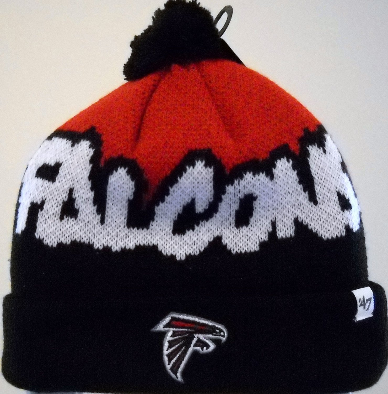 af620e031be Get Quotations · Atlanta Falcons Kids Youth Knit Cap Hat Toboggan with  Embroidered Team Logo on Cuff and Black