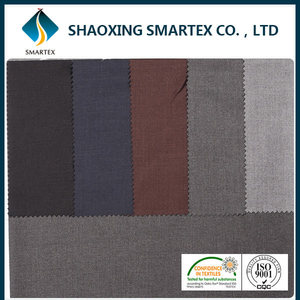 SM-22028 China factory direct sale pinstripe suit fabric shiny suit fabric importers in dubai