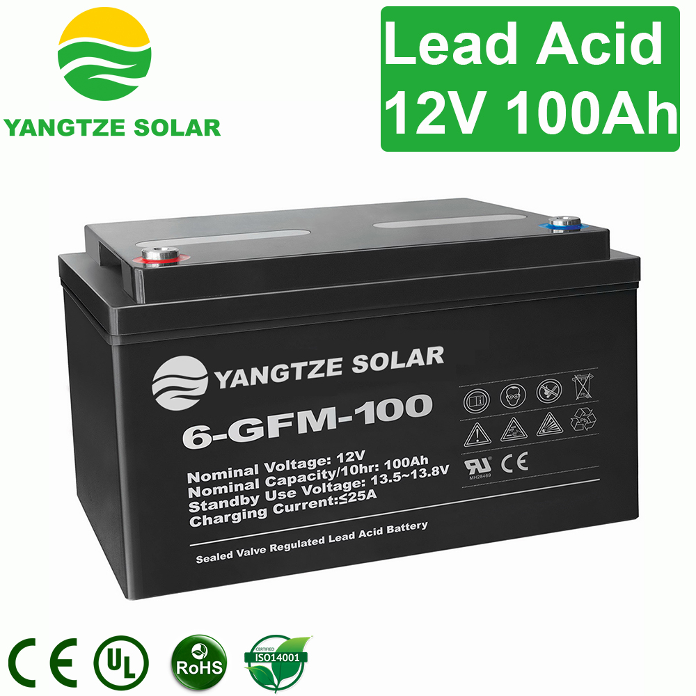 Long working life 12v 100ah lead crystal battery from Yangtze