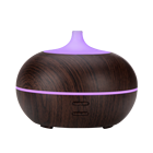 Commercial Ultrasonic New Humidifier Mini Wood Essential Oil Diffuser For Home