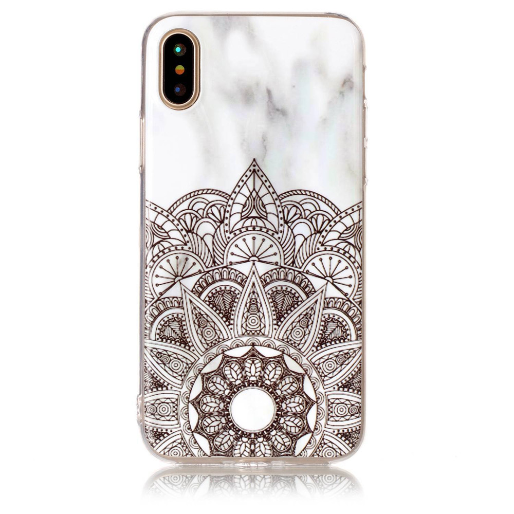 Wholesale Factory Price Marble Design Soft TPU Silicon Decorative Phone Shell Cover Case for iPhone X