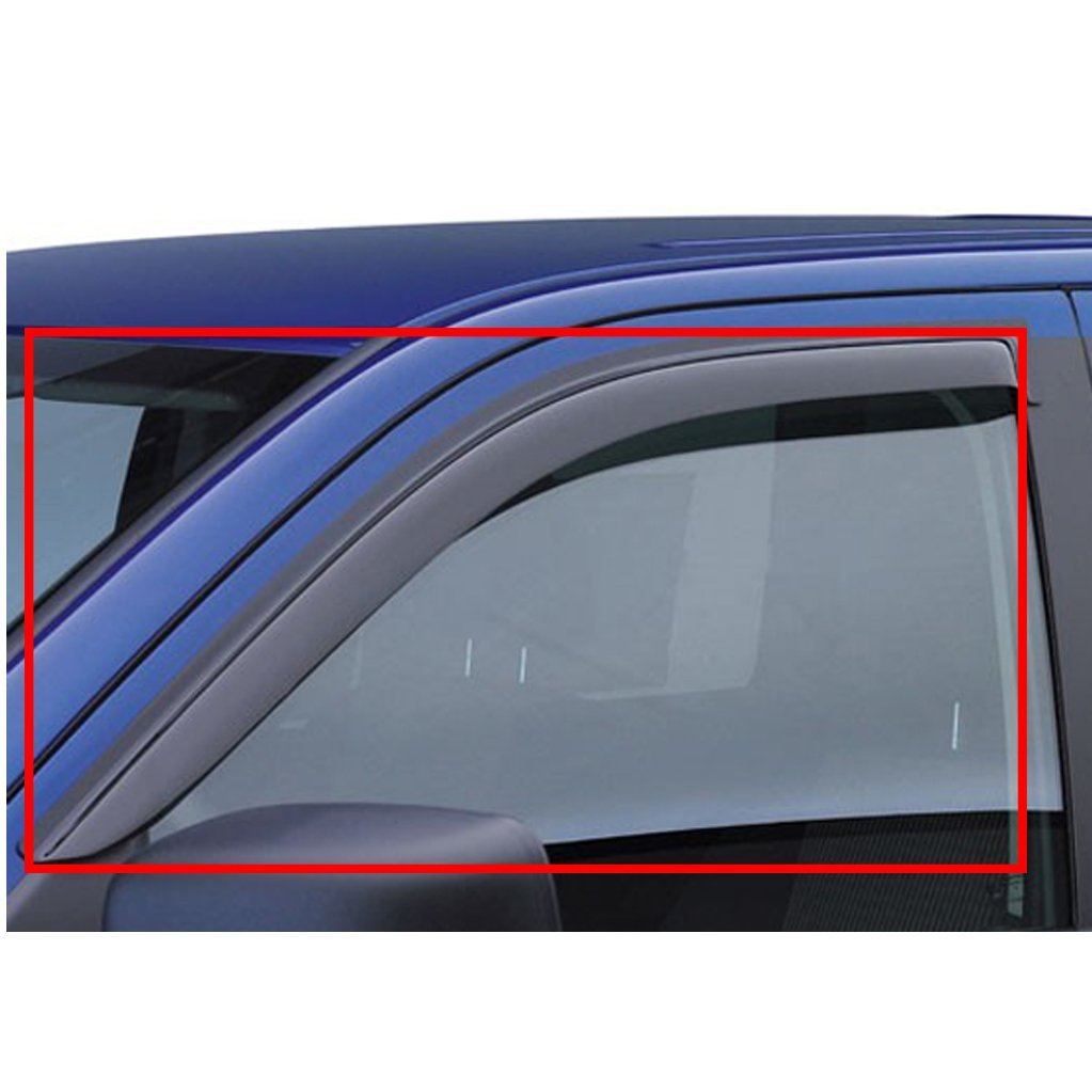 VIOJI 2pcs Front Smoke Sun/Rain Guard Vent Shade Window Visors Fit 02-08 Dodge Ram 1500 03-09 2500/3500 2-Door Standard/Regular Cab