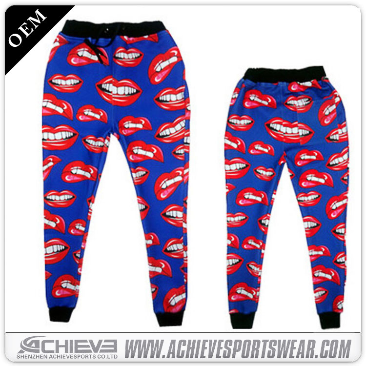 Custom sports clothing women sweat pants sublimation jogger sweat pants