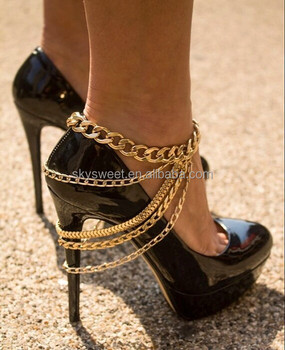 Schuhkette strang On Buy Model Schmuck schuhkette Product Schuhkette High Künstlichen Heels goldkette Goldkette Schmuck Für Frau knwP0O