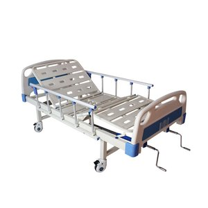 Dual-handle adjustable patient care hospital medical bed