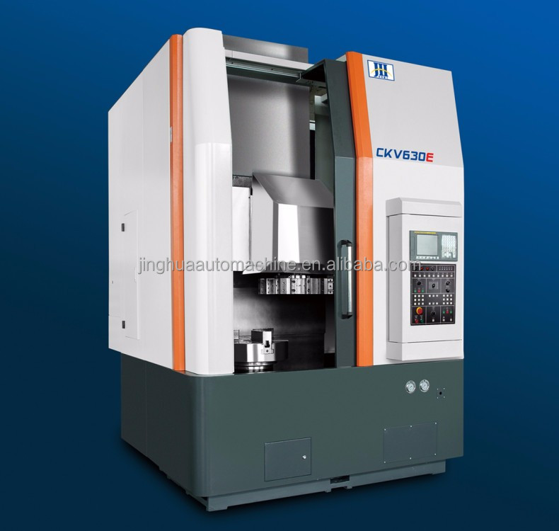 high precision c indexing axis controlled cnc vertical lathe machining center