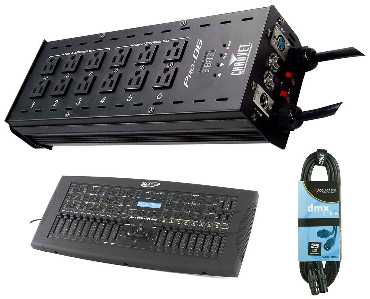 Cheap 12 Channel Dmx Dimmer Find Deals On Dmxprojectscom Dmx512 Lighting Projects Relay Schematic Get Quotations Chauvet Pro D6 6 Light Pack Operator Cable